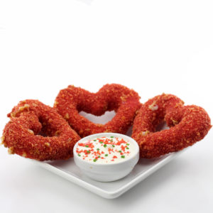 Valentine's Day Mozzarella Cheese Stick Hearts