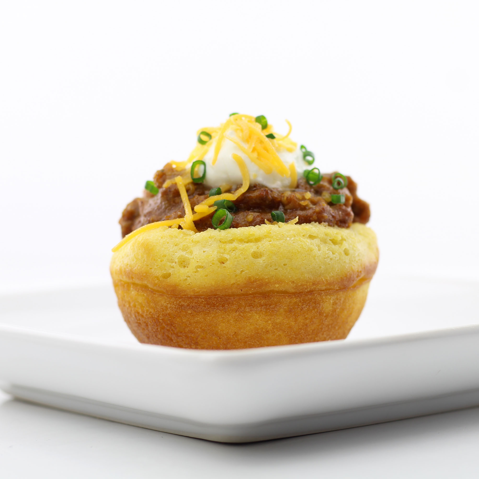 Chili in Edible Cornbread Bowls