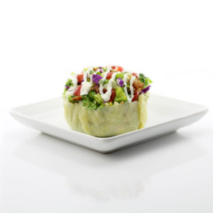 Cobb Salad in a Parmesan Cheese Bowl