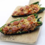 Pizza Stuffed Poblano Peppers
