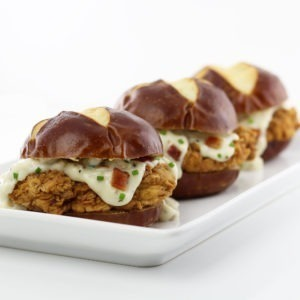 Chicken Fried Pork Tenderloin Sliders With Bacon Country Gravy