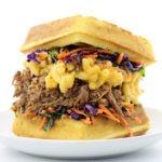 Cornbread Waffle Pulled Pork Sandwiches