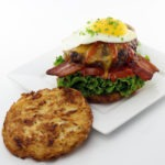 The Hash Brown Bun Breakfast Burger