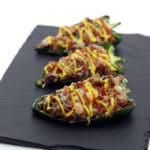 Bacon Cheeseburger Stuffed Poblano Peppers